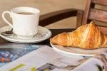 coffee and magazines at breakfast
